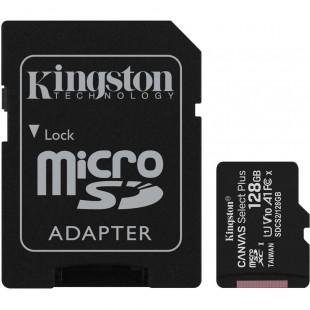 Kingston 128GB microSDXC C10 UHS-I R100MB/s Canvas Select Plus + SD
